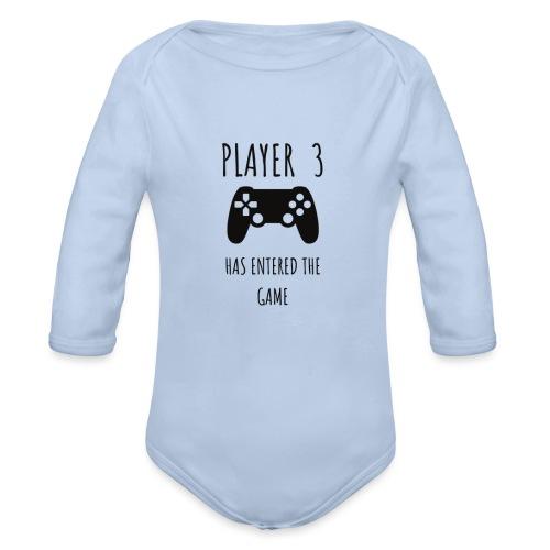 Player 3 - Organic Longsleeve Baby Bodysuit