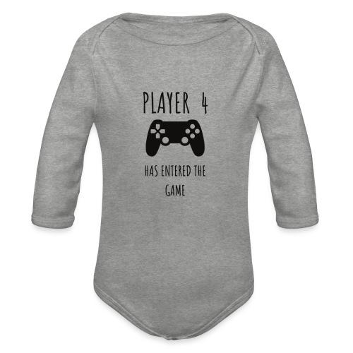 Player 4 - Organic Longsleeve Baby Bodysuit