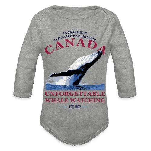 CANADA - WHALE WATCHING - Baby Bio-Langarm-Body
