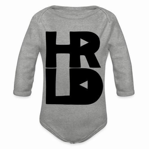 HRLD Black Logo - Vauvan pitkähihainen luomu-body