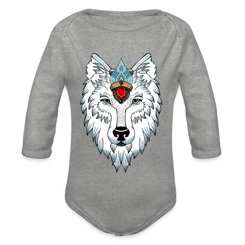 female wolf newschool - Body Bébé bio manches longues