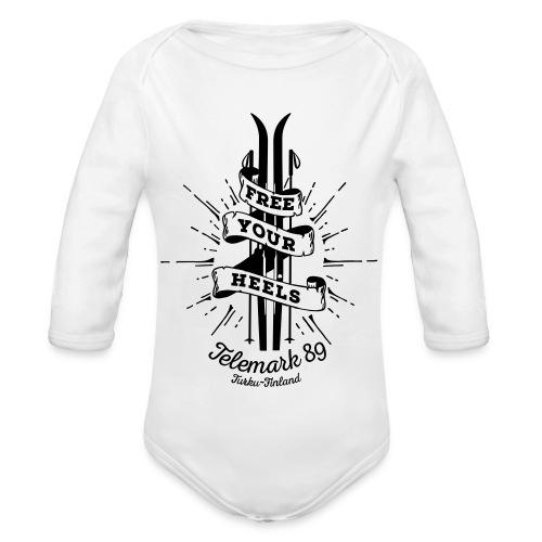 FreeYourHeels_merge - Vauvan pitkähihainen luomu-body