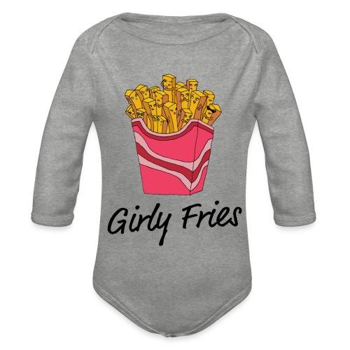 Girly Fries - Langærmet babybody, økologisk bomuld