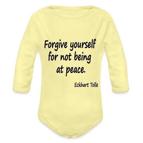 Forgive Yourself - Organic Longsleeve Baby Bodysuit