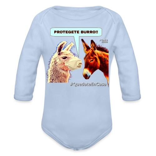 PROTEGETE BURRO - Body orgánico de manga larga para bebé