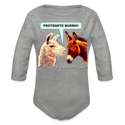 PROTEGETE BURRO - Organic Longsleeve Baby Bodysuit