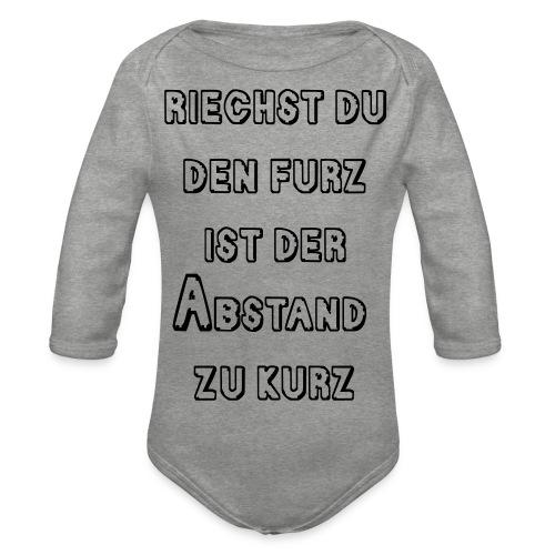 Riechst Du den Furz - Baby Bio-Langarm-Body