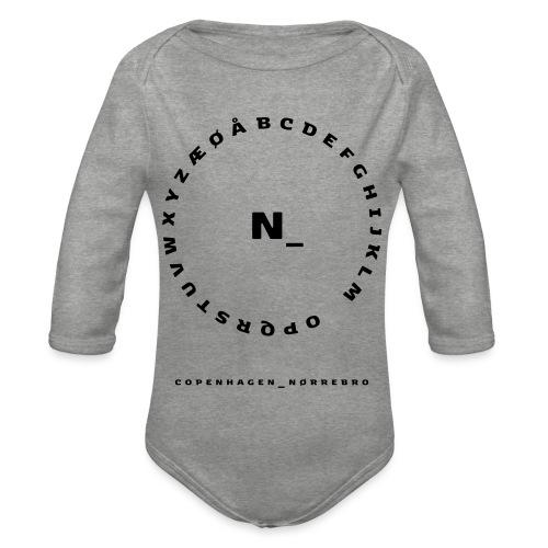 Nørrebro - Langærmet babybody, økologisk bomuld