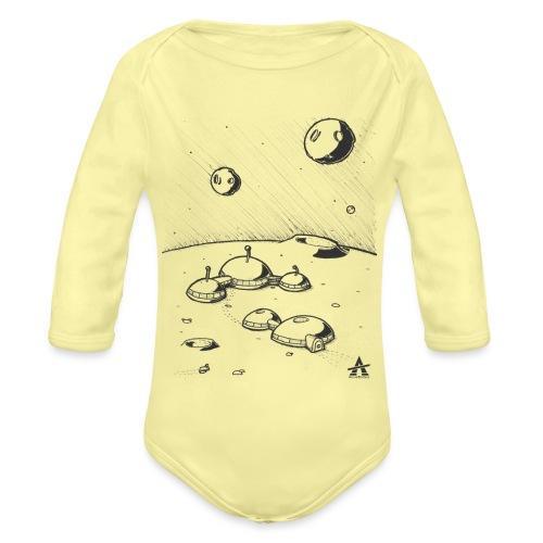 Moonbase Sketch ligne - Body Bébé bio manches longues