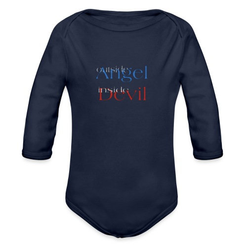 Angelo o Diavolo? - Body ecologico per neonato a manica lunga