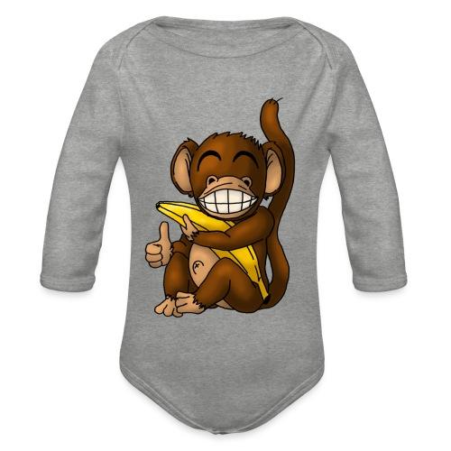 Super Fröhlicher Affe - Baby Bio-Langarm-Body
