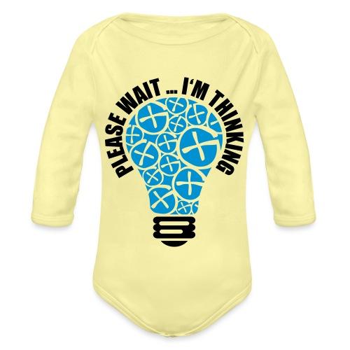 PLEASE WAIT ... I'M THINKING - Baby Bio-Langarm-Body