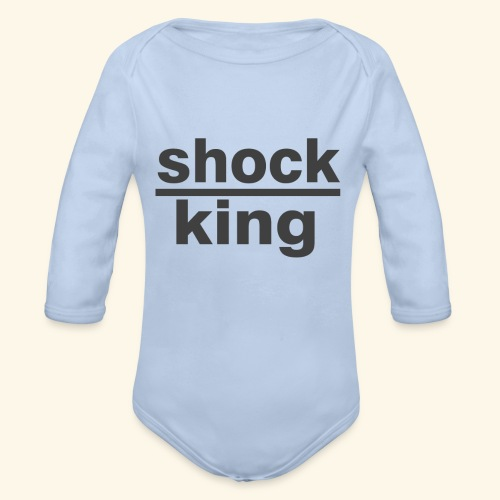 shock king funny - Body ecologico per neonato a manica lunga