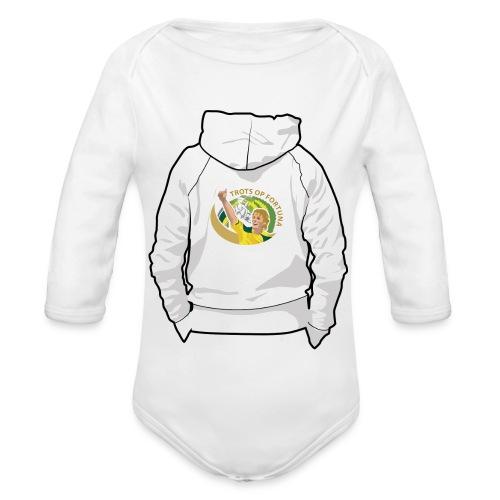 hoodyback - Baby bio-rompertje met lange mouwen