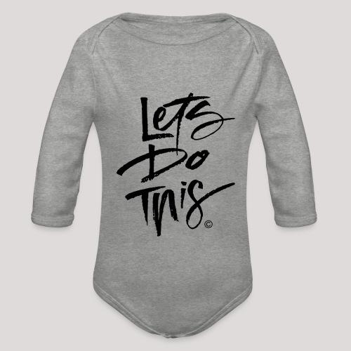 LDT Clear MASTER BLK - Organic Longsleeve Baby Bodysuit