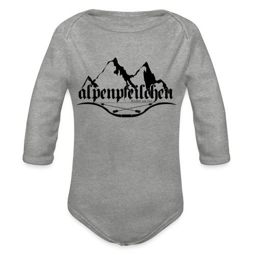 Alpenpfeilchen - Logo - Baby Bio-Langarm-Body