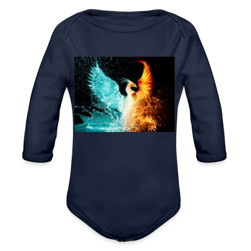 Elemental phoenix - Organic Longsleeve Baby Bodysuit
