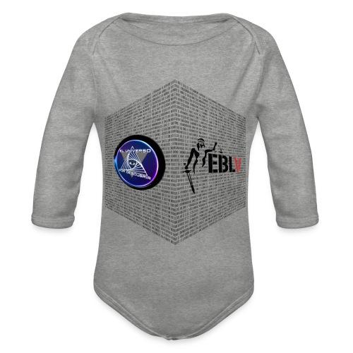 disen o dos canales cubo binario logos delante - Organic Longsleeve Baby Bodysuit