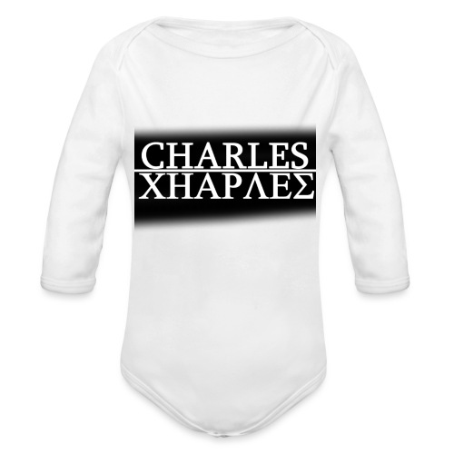 CHARLES CHARLES BLACK AND WHITE - Organic Longsleeve Baby Bodysuit