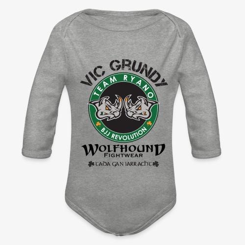 vic grundy back png - Organic Longsleeve Baby Bodysuit