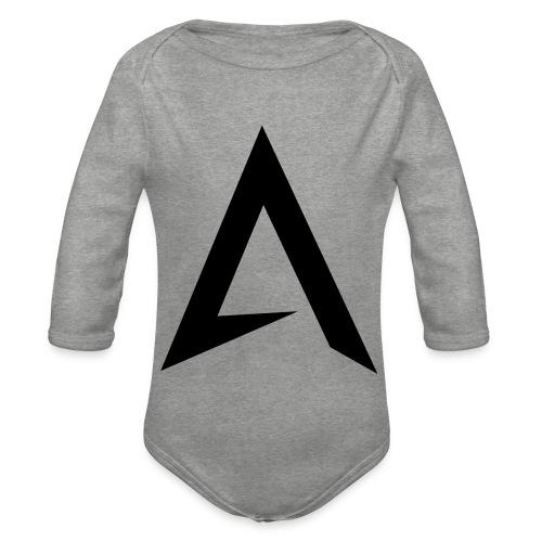 alpharock A logo - Organic Longsleeve Baby Bodysuit