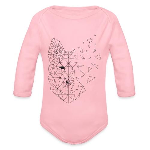 WOLF - Body ecologico per neonato a manica lunga