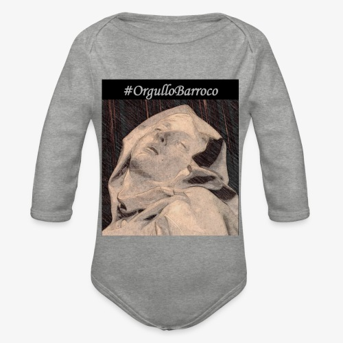 #OrgulloBarroco Teresa dibujo - Body orgánico de manga larga para bebé