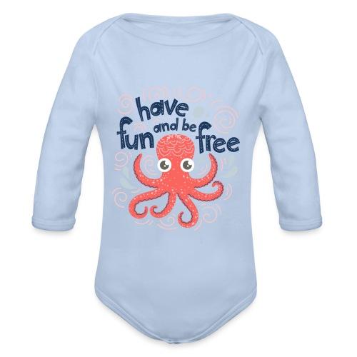 HaveFunAndBeFree - Body Bébé bio manches longues