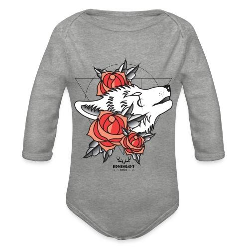 Wolfhead - Organic Longsleeve Baby Bodysuit