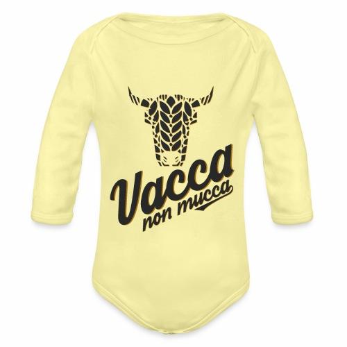 Vacca non mucca - Body ecologico per neonato a manica lunga