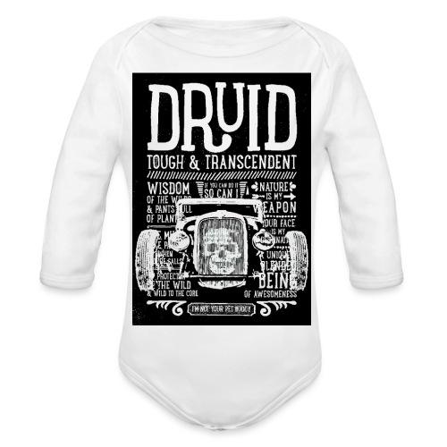 DRUID - Body ecologico per neonato a manica lunga