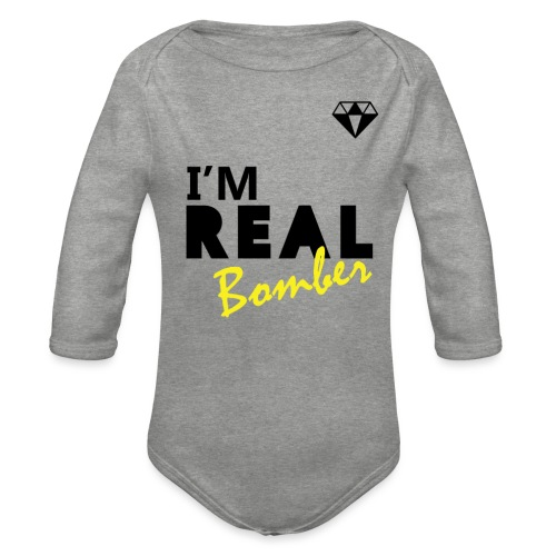 REAL Bomber - Body ecologico per neonato a manica lunga