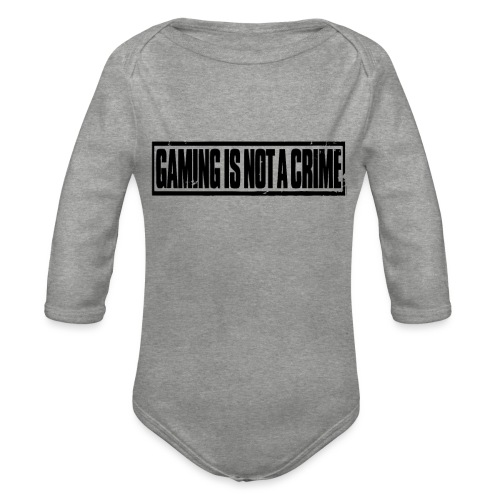 Gaming is not a crime - Body Bébé bio manches longues