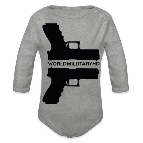 WorldMilitaryHD Glock design (black) - Baby bio-rompertje met lange mouwen