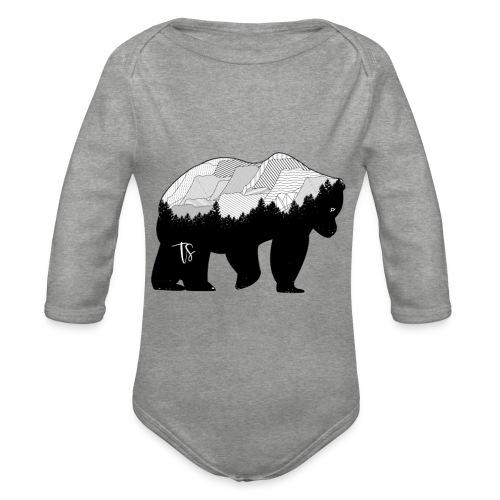 Geometric Mountain Bear - Body ecologico per neonato a manica lunga