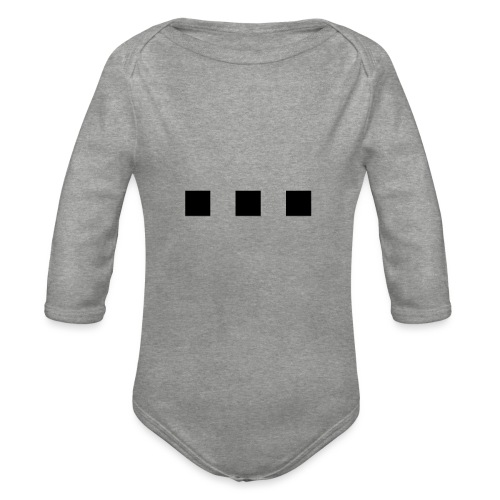 punt dot - Organic Longsleeve Baby Bodysuit