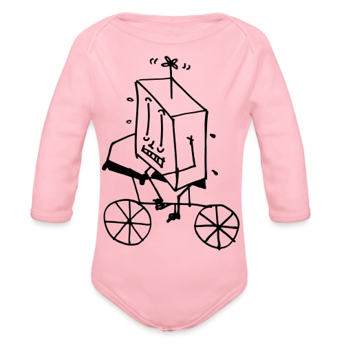 bike thing - Organic Longsleeve Baby Bodysuit