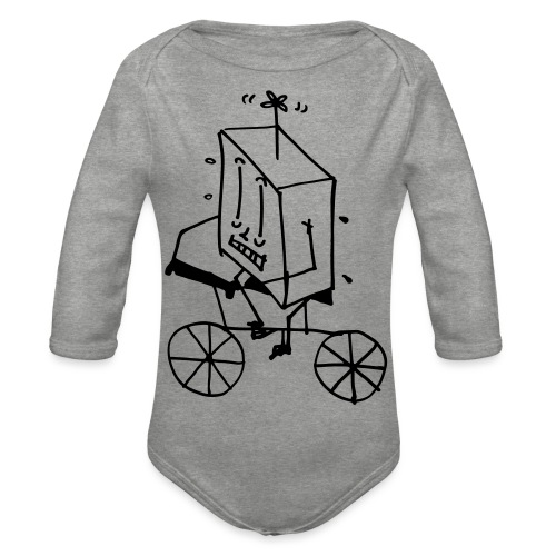 bike thing - Organic Longsleeve Baby Bodysuit