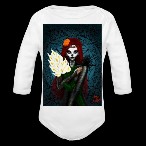 Death and lillies - Organic Longsleeve Baby Bodysuit