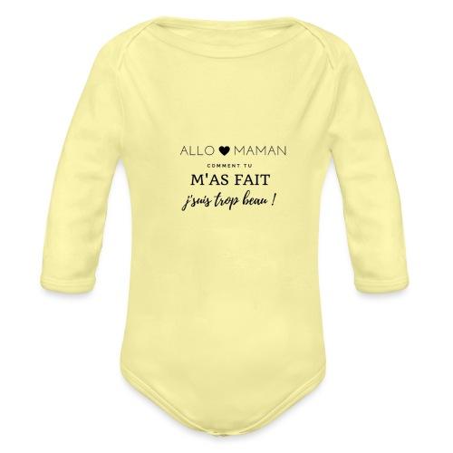AlloMaman - Body Bébé bio manches longues