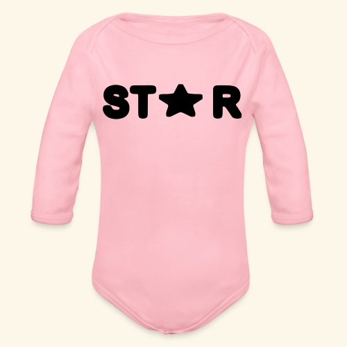 Star of Stars - Organic Longsleeve Baby Bodysuit