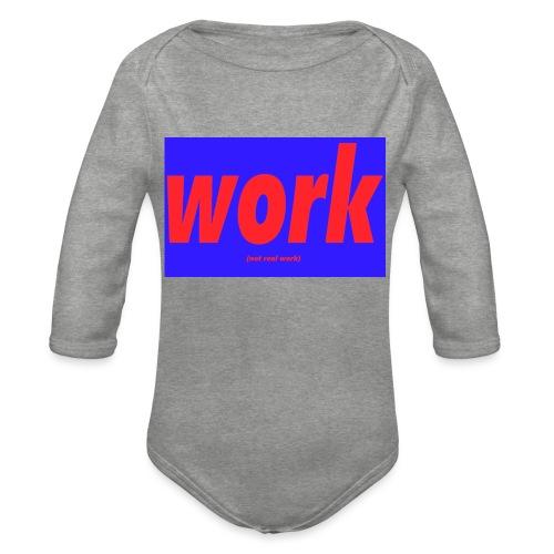 work - Vauvan pitkähihainen luomu-body