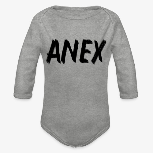 V-neck T-Shirt Anex black logo - Organic Longsleeve Baby Bodysuit
