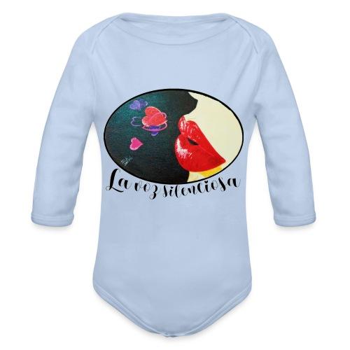 La Voz Silenciosa - Besos - Body orgánico de manga larga para bebé