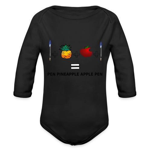 PINEAPPLE APPLE PEN - Body ecologico per neonato a manica lunga