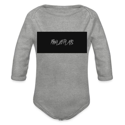 Finley plays merch - Organic Longsleeve Baby Bodysuit