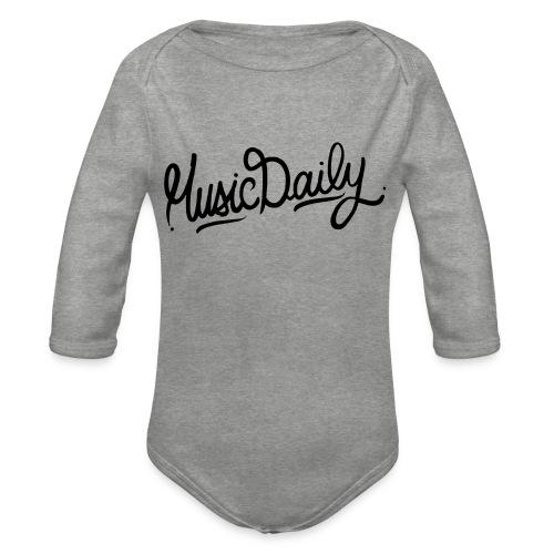 MusicDaily Logo - Baby bio-rompertje met lange mouwen