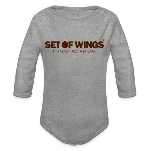 SETOFWINGS_logo - Organic Longsleeve Baby Bodysuit