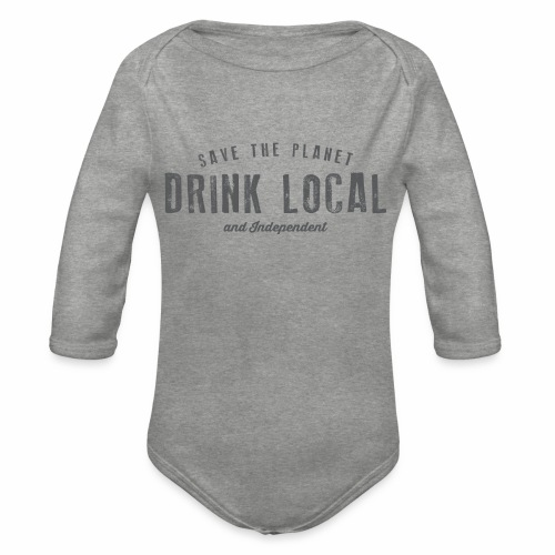 Drink Local - Organic Longsleeve Baby Bodysuit