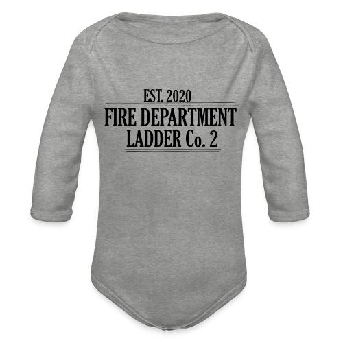 Fire Department - Ladder Co.2 - Langærmet babybody, økologisk bomuld